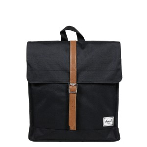 Herschel Sac à dos City Mid-Volume black/tan Pas Cher