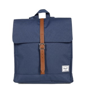 Herschel Sac à dos City Mid-Volume navy/tan [ Soldes ]