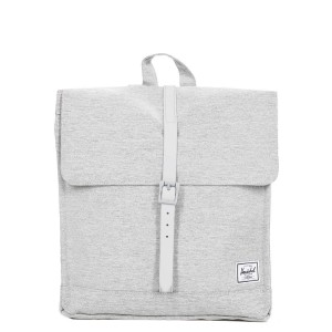 Herschel Sac à dos City Mid-Volume light grey crosshatch [ Soldes ]