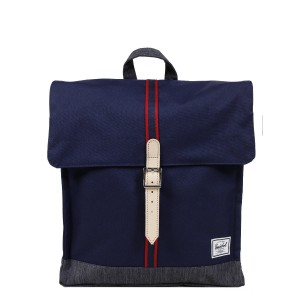 Herschel Sac à dos City Mid-Volume Offset peacoat/dark denim [ Soldes ]