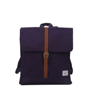Herschel Sac à dos City Mid-Volume purple velvet [ Soldes ]