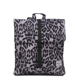 Herschel Sac à dos City Mid-Volume snow leopard/ black [ Promotion Black Friday 2020 Soldes ]