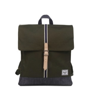 Herschel Sac à dos City Mid-Volume Offset forest night/ dark denim [ Soldes ]