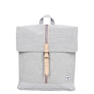 Herschel Sac à dos City Mid-Volume Offset light grey crosshatch/high rise Pas Cher