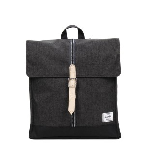 Herschel Sac à dos City Mid-Volume Offset black crosshatch/black Pas Cher