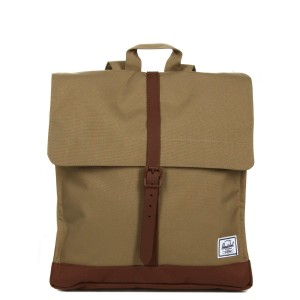 Herschel Sac à dos City Mid-Volume kelp/saddle brown Pas Cher