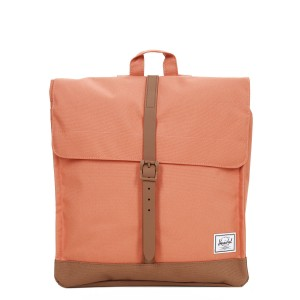 Herschel Sac à dos City Mid-Volume apricot brandy/saddle brown [ Soldes ]