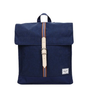 Herschel Sac à dos City Mid-Volume Offset medieval blue crosshatch/medieval blue Pas Cher