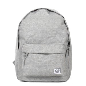 Herschel Sac à dos Classic light grey crosshatch Pas Cher