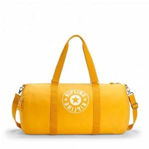 Kipling Grand Sac Polochon avec Poche Intérieure Zippée Lively Yellow [ Soldes ]