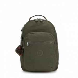 Kipling Grand Sac à Dos Avec Protection Pour Ordinateur Portable Jaded Green C Pas Cher