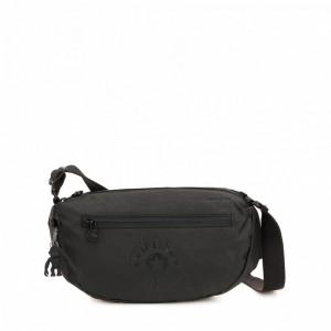 Kipling Petit sac à bandoulière avec bretelle réglable Raw Black Pas Cher