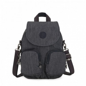 Kipling Small backpack (convertible to shoulderbag) Active Denim [ Soldes ]