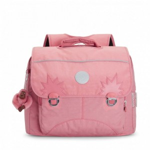 Kipling Sac D'école Medium avec Bretelles Rembourrées Pink Flash [ Soldes ]