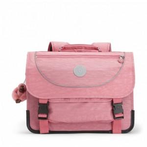 Kipling Sac D'école Medium Avec Housse Contre La Pluie Fluo Pink Flash [ Soldes ]