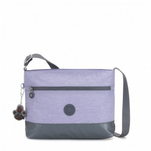 Kipling Medium crossbody Active Lilac Cb Pas Cher
