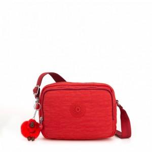 Kipling Petit Sac Épaule à Bandoulière Active Red [ Soldes ]