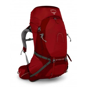 Osprey Sac à dos de randonnée/trekking homme, Atmos AG 50  Rigby Red Pas Cher