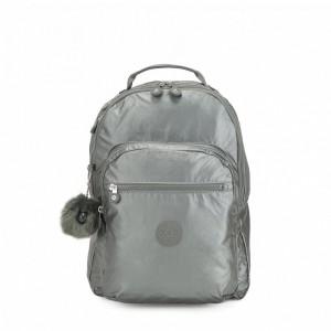 Kipling Grand Sac à Dos Avec Protection Pour Ordinateur Portable Metallic Stony Pas Cher