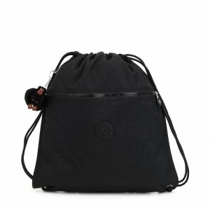 Kipling Grand Sac à Cordon True Black [ Soldes ]
