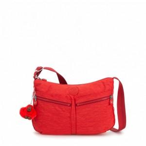 Kipling Sac Épaule à Bandoulière Taille Moyenne Active Red [ Soldes ]