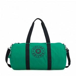 Kipling Grand Sac Polochon avec Poche Intérieure Zippée Lively Green [ Soldes ]