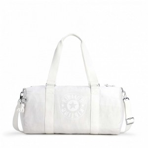 Kipling Sac Polochon Polyvalent Lively White [ Soldes ]