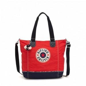 Kipling Grand Sac épaule Avec Bretelle Amovible Active Red Bl [ Promotion Black Friday 2020 Soldes ]