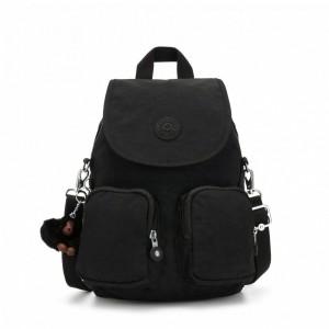 Kipling Petit sac à dos transformable en sac à bandoulière True Black [ Promotion Black Friday 2020 Soldes ]