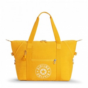 Black Friday 2019 | Kipling Sac Cabas Medium avec 2 Poches Frontales Lively Yellow