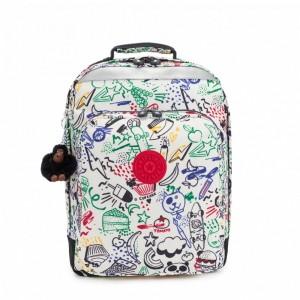 Kipling Grand Sac à Dos Avec Protection Pour Ordinateur Portable Doodle Play Bl Pas Cher