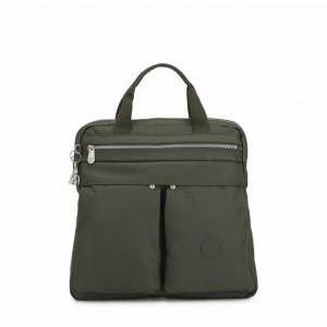 Kipling Petit sac à dos et à main 2 en 1 Rich Green Pas Cher