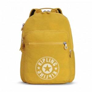 Kipling Sac à Dos Medium avec Compartiment pour Ordinateur Lively Yellow [ Soldes ]