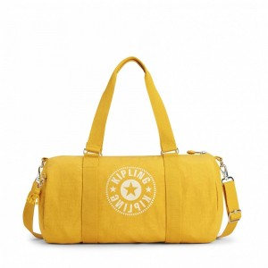 Kipling Sac Polochon Polyvalent Lively Yellow [ Promotion Black Friday 2020 Soldes ]