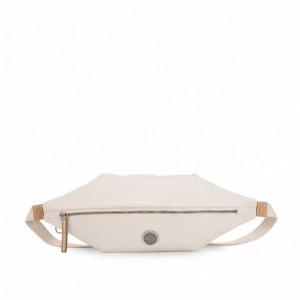 Kipling Sac à bandoulière moyen convertible en banane Triangle White [ Soldes ]