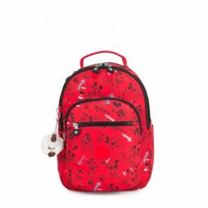 Kipling Petit sac à dos avec protection pour tablette Sketch Red Pas Cher