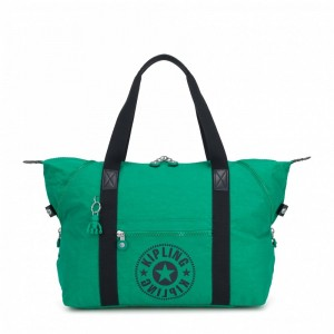 Kipling Sac Cabas Medium avec 2 Poches Frontales Lively Green Pas Cher