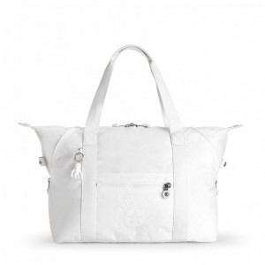 Kipling Sac Cabas Medium avec 2 Poches Frontales Lively White [ Soldes ]
