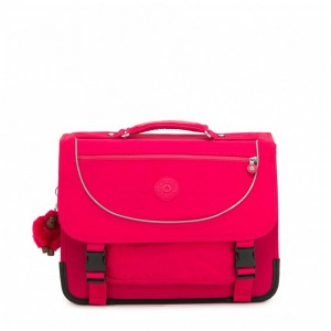 Kipling Sac D'école Medium Avec Housse Contre La Pluie Fluo True Pink [ Soldes ]