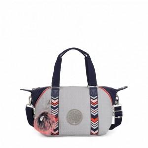 Kipling Mini sac fourre-tout avec bandoulière amovible New Grey Emb Bl [ Soldes ]