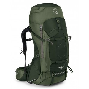 Osprey Sac de trekking homme - Aether AG 70 Adirondack Green - Marque Pas Cher
