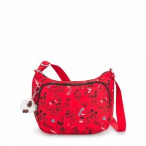 Kipling Sac à bandoulière moyen avec bretelle réglable Sketch Red [ Soldes ]