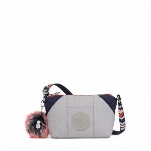 Kipling Petit sac à bandoulière New Grey Emb Bl Pas Cher