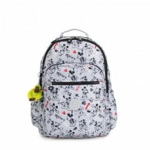 Kipling Grand sac à dos avec protection pour laptop Sketch Grey [ Soldes ]