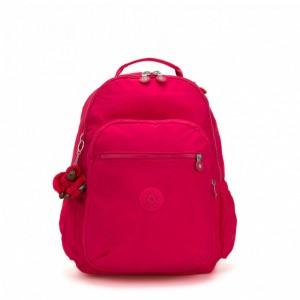 Kipling Grand Sac à Dos avec Protection pour Ordinateur Portable True Pink Pas Cher