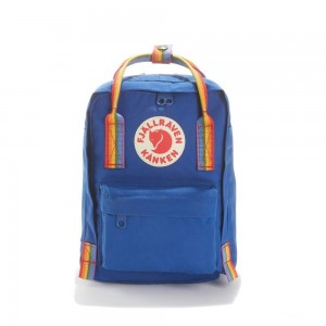 FJALLRAVEN Sac à dos mini KANKEN RAINBOW MINI Bleu [ Promotion Black Friday 2020 Soldes ]