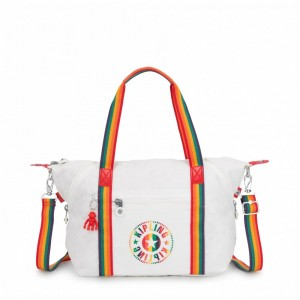 Black Friday 2019 | Kipling Sac Cabas avec Sangle Détachable Rainbow White
