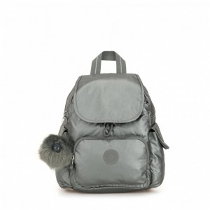 Kipling Sac à Dos City Pack Mini Metallic Stony Pas Cher
