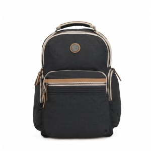 Kipling Grand sac à dos avec poches d'organisation Casual Grey [ Soldes ]
