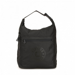 Kipling Grand sac à dos convertible Raw Black Pas Cher